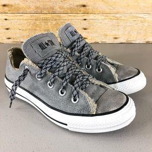 Gray Suede Converse Sneakers Sz 6